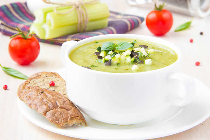 Raw Mediteranean Soup Recipe via Blender Babes