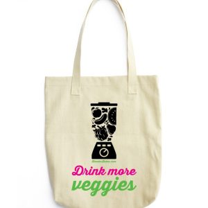 """""""Drink More Veggies"""" Tote Bag"""