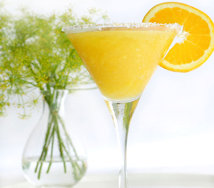 Fresh Orange Banana Lime Daiquiri in Your Blendtec or Vitamix by @BlenderBabes