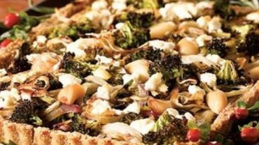 Roasted Vegetables with a Cheddar Cheese Crust