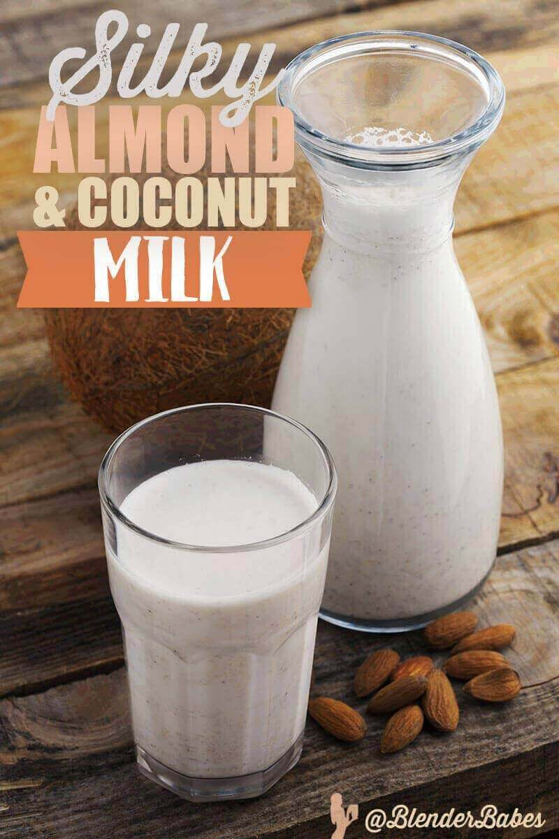 Almond Coconut Milk Recipe Dairy Free Milk Blender Babes