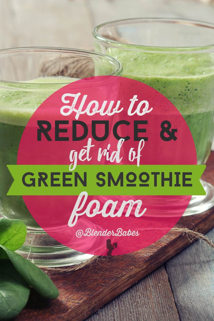 How to Remove Green Smoothie Foam by @BlenderBabes #greensmoothie #smoothie #howto #greensmoothies #foam