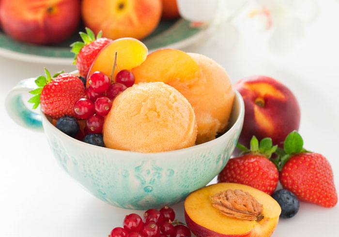 Instant Vegan Fruit Sorbet ~ Peach, Cherry, Berry +