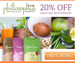 Philosophie Superfoods coupon code 20% discount BLENDERBABES